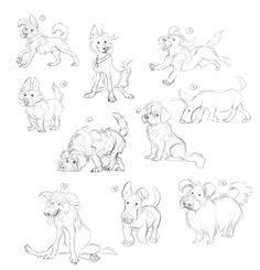 "Coke ""man and dog"" on behance artist/copyright: therese lars Animal Sketches, Animal Drawings, Art Sketches, Bunny Drawing, Dog Poses, Man And Dog, Dog Illustration, Character Design Animation, Dog Art"