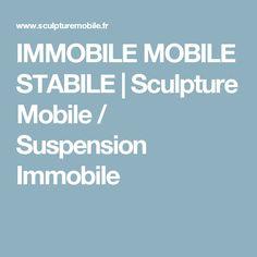 IMMOBILE MOBILE STABILE | Sculpture Mobile / Suspension Immobile