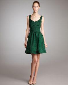 Zac Posen - Boucle Yarn Flounce Dress