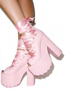 Platforms for when you want to look all sweet 'n shit.