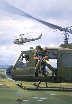 Vietnam Door Gunner, GI Joe illustration by Larry Selman Vietnam History, Vietnam War Photos, South Vietnam, Vietnam Veterans, Military Helicopter, Military Aircraft, Military Art, Military History, Gi Joe