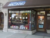 Third Coast Comics | Little Independent - Storefront display window - small locally owned comic bookshop.