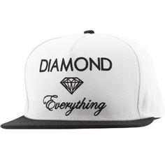 Diamond Supply Co Diamond Everything Snapback Cap (white / black) B13H117WHBK - $39.99