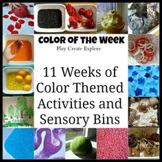 Play Create Explore: Color of the Week Series. Activities, stories and sensory bins for young kids (preschool, kindergarten, pre-k) exploring color. What a fun way to learn about color for young children. Toddler Fun, Toddler Learning, Toddler Preschool, Early Learning, Fun Learning, Preschool Colors, Teaching Colors, Preschool Themes, Teaching Abcs