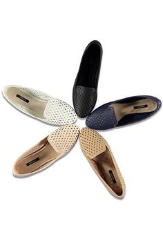 Perforated Faux Leather Loafers | FOREVER21 - 2000055622