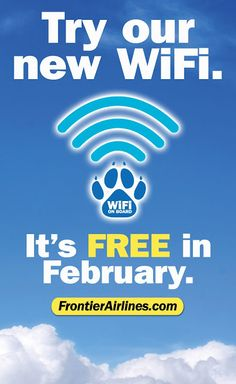 Free wiFi on flights out of the Provo Airport