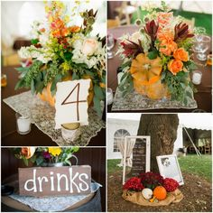 Fall Rustic Wedding Flowers