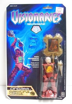 Cindarr, one of the Darkling Lords from Hasbro's Visionaries line of toys, wields the power of destruction and a mace