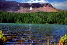 Kluane Mountains Lake. Yukon Territory.