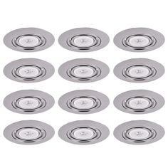 """Elegant Lighting RE317 Elitco 6"""" Recessed Gimbal Ring Trim with Clear Lens - Pac Chrome Recessed Lights Recessed Trims"""