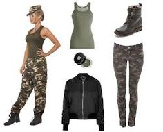 Army costume with camo leggings Army Girl Halloween Costume, Army Girl Costumes, Army Costume, Easy College Halloween Costumes, Wholesale Halloween Costumes, Soldier Costume, Military Costumes, Costumes For Teens, Halloween Outfits