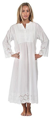 7c77e0ffde The 1 for U 100% Cotton Vintage Nightgown - Connie - White at Amazon  Women s Clothing store