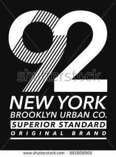 New York Brooklyn sport wear typography, for t-shirt and other uses. athletic apparel   design. vector graphics.