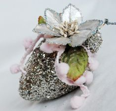 Glittery Wallflower Ornament from @Michele Kovack