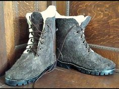 Felting boots - YouTube