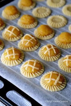 Pineapple tarts in various stages of making, Singapore traditional way of tart making