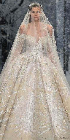 ziad nakad couture fall 2017 off the shoulder v neck full embellishment glamorous princess ball gown a line wedding dress open v back royal train zv -- Ziad Nakad Couture Fall 2017 Dresses Couture Wedding Gowns, Dream Wedding Dresses, Bridal Dresses, Do It Yourself Fashion, Princess Ball Gowns, Fantasy Dress, Beautiful Gowns, Wedding Styles, Crystal Collection