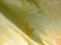 Vintage 70's Vera Neumann Flat Sheet // Daffodil by ElkHugsVintage, $15.00