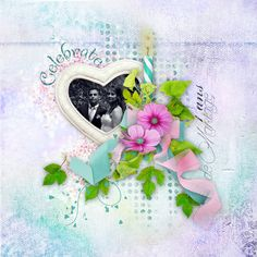 """Sweet-Chick Scrap and Co My page with """"Celebrate"""" by Bee Création"""
