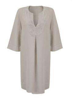 120% LINO GREY TUNIC DRESS