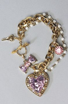 Gorgeous bracelet by Betsey Johnson