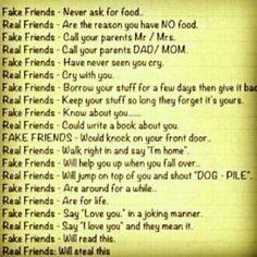 True / false friends quote