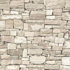 Papel pintado imitación piedra color marrón PDD521859119