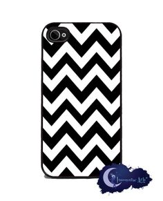 Black and White Chevron iPhone Cover  by Insomniac Arts, $15.99