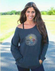 Pittsburgh Steelers Women s Off the Shoulder Sideliner II Oversized Fleece  - Official Online Store 988f267e1