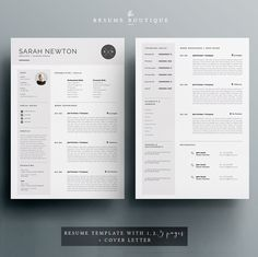 Resume Template and Cover Letter Template for Word DIY Cover Letter Template, Template Cv, Letter Templates, Resume Templates, Portfolio Covers, Portfolio Design, Resume Design, Cv Design, Graphic Design