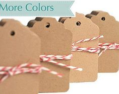 Kraft mini tags. Kraft gift tags. Blank brown tags. Small gift tag die cuts eco friendly natural paper. READY TO SHIP Gift Tags Many colors