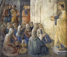 Fra Angelico | Frescoes in the Cappella Niccolina of the Palazzi Pontifici in Vatican (1447-49) | Podere Santa Pia, Holiday house in the south of Tuscany