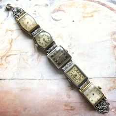 Vintage Jewelry Crafts Vintage Watch Bracelet on Etsy. Vintage Jewelry Crafts, Recycled Jewelry, Old Jewelry, Metal Jewelry, Jewelry Art, Antique Jewelry, Handmade Jewelry, Jewelry Design, Jewelry Making