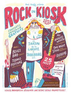 Festival poster by Vincent Caut. Typo Poster, Poster Ads, Poster Prints, Event Poster Design, Poster Design Inspiration, Graphic Design Print, Graphic Design Illustration, Festival Posters, Typography Design