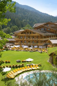 I was in this beautiful place in Austria. www.stanglwirt.com