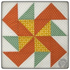 Peas and Carrots Block by Thistle Thicket Studio
