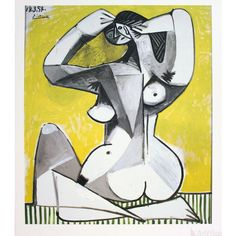 Nu Accroupi by Pablo Picasso - art print from King & McGaw Art Picasso, Picasso Paintings, Pablo Picasso Drawings, Picasso Prints, Georges Braque, Cubist Movement, Oeuvre D'art, Modern Art, Art History