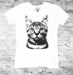 KOT biała damska - nakoszulke - Koszulki i bluzy