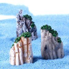 3 x Miniature model bonsai bowl fairy garden ornaments mini mountains cliffs