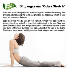 The Cobra Pose or Bhujangasana is one such perfect exercise for relieving back problems, strengthening the spine and providing the necessary stretch to your lungs, shoulders and abdomen. Cobra Pose, Ab Exercises, Lungs, Fitness Inspiration, Abs, Yoga, Poses, Facebook, Shoulder