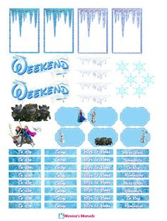 Full Faith: Let It Go free frozen free sticker printable for planners crafters an scrapbookers