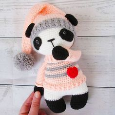 @lyubov.lipatova I love your version of my Panda Girl Nele Pattern /Anleitung in my etsy shop #amaloudesigns #pattern #anleitung #pandagirlnele #panda #pandabear #pandaliebe #amigurumi #amigurumidoll #doll #dolls #handmadetoy #crochetlove #crochetanimal #gehäkelt #kawaii #etsyshop #etsystore #etsyseller