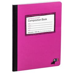 Compose Yourself. We thought it was about time the old composition book entered the age of color.