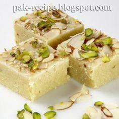 Pistachio and Coconut Barfi Making ~ Pakistani Recipe Blog