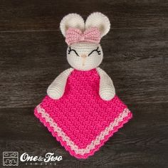 Olivia the Bunny Security Blanket Crochet Pattern