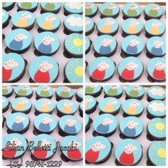 Cupcakes com tema Peppa Pig