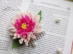 Мастер-класс по созданию хризантемы на гребне