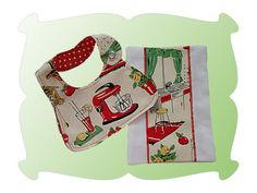 Dolly Bib and Burp Cloth Gift Set ~ Just like Mommy