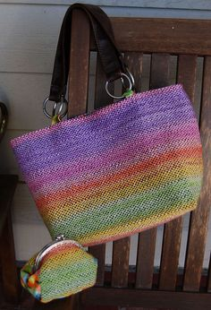 Ravelry: TheClaySheep's Sunset Woven Tote & Coin Purse