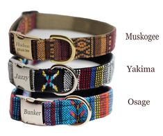 Personalized Tribal Collar Aztec Laser by FidosFashionCollars